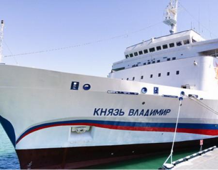 В марте началась навигация лайнера «Князь Владимир»